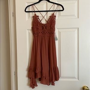 Coral rose Free People dress